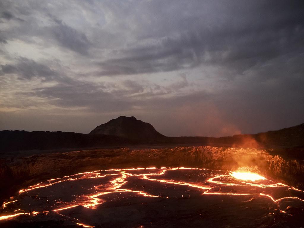 Sunrise, Erta Ale, Ethiopia
