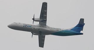 ATR 72-600 GARUDA INDONESIA EXPLORE F-WWEL MSN1398 PK-GAQ A L'AEROPORT TOULOUSE-BLAGNAC LE 03 03 17