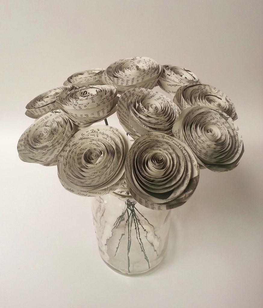 Handmade Newspaper Flowers Handmade Paper Flower Bouquet M Flickr