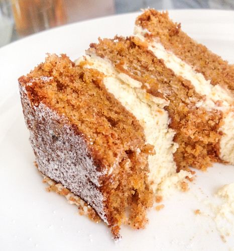 Carrot Ginger Cake With Orange Cream Cheese Frosting