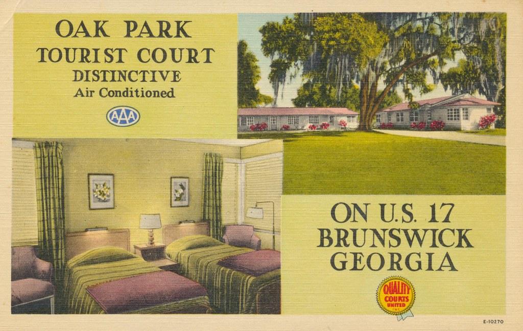 Oak Park Tourist Court - Brunswick, Georgia