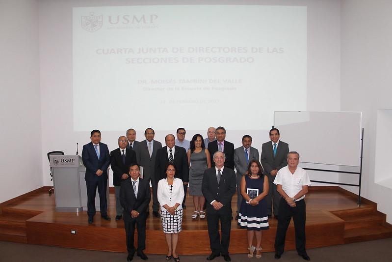 Escuela de Post Grado de la USMP realizó la Cuarta Junta de Directores de las Secciones de Post Grado