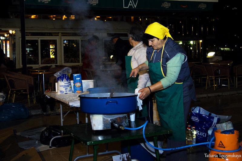 Приготовление рыбы в Игало