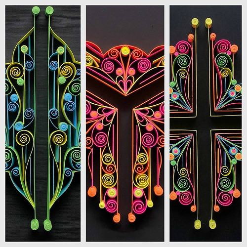 Neon 1, 2, 3 - Quilled Series by TealCup
