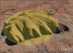 Uluru, Australia 2.5 kilometer diameter