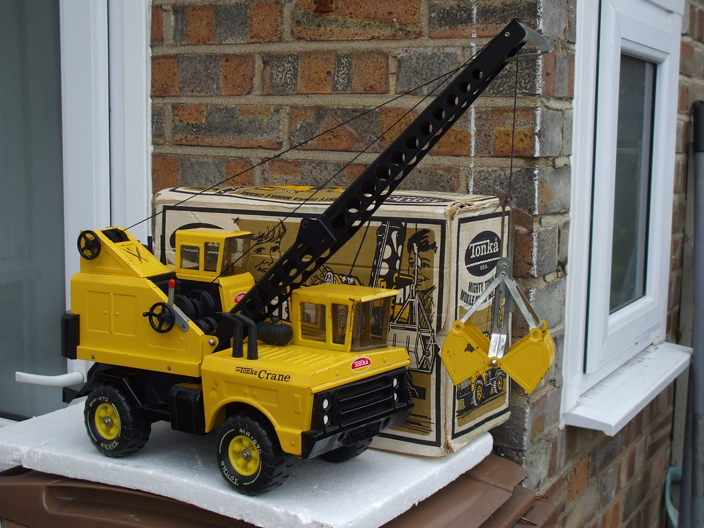 Tonka Construction Toys For Boys : Vintage tonka toys mobile crane made in the usa bought todu flickr