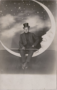 Man in a Top Hat - Paper Moon Real Photo Postcard | by Photo_History - Here but not Happy