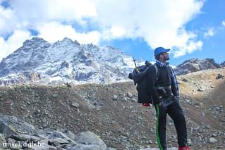 Hampta Pass in the Background