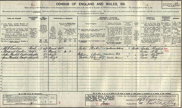 1911 Census Alf H jr