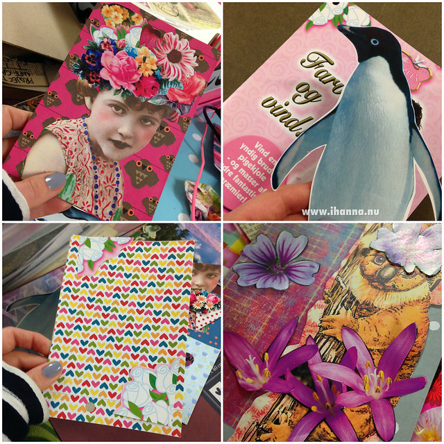 Postcards in the making by iHanna #diypostcardswap #mailart
