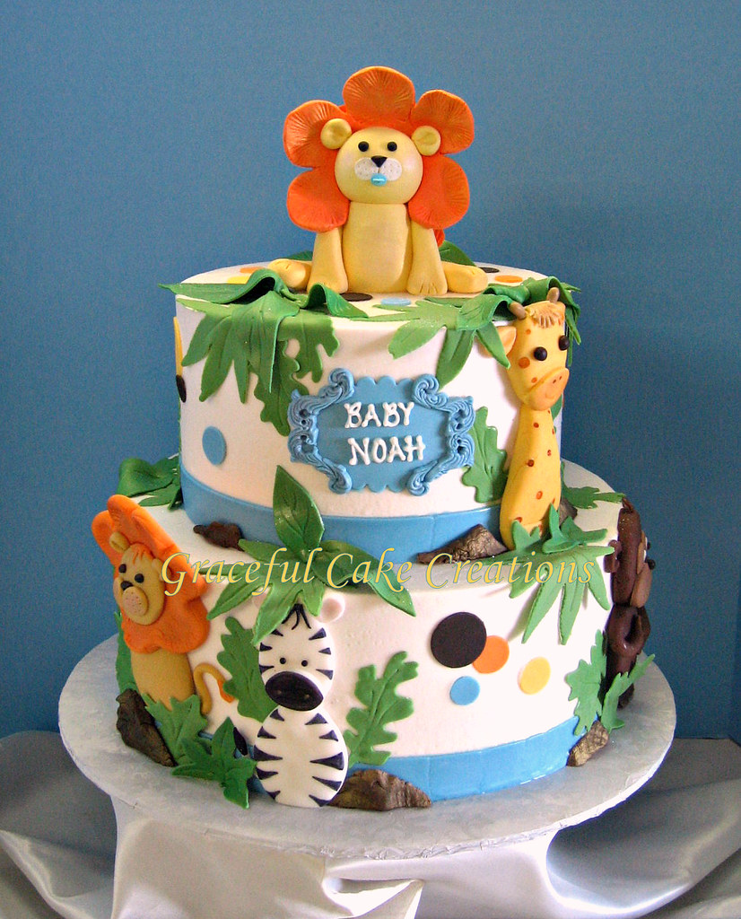 ... Jungle Safari Baby Shower Cake | By Graceful Cake Creations