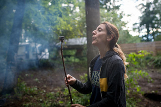 Hercilia Blowing out Flaming Marshmallow | by goingslowly