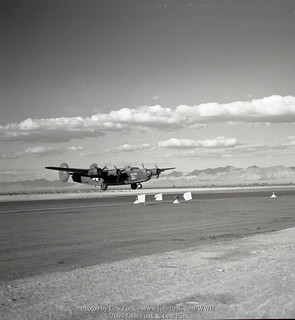 "B-24 41-1185 ""Blythes Old Maid"" Landing at Blythe in November 1943 