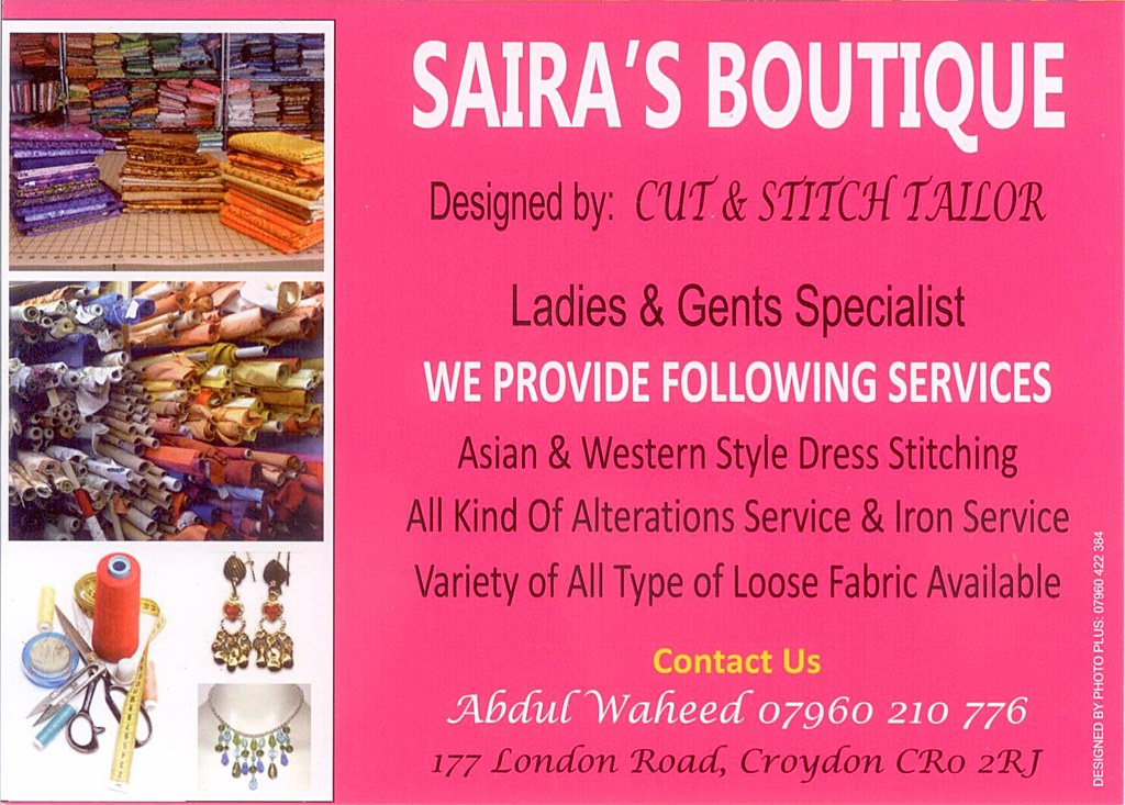 Flyer From Saira S Boutique Cut Stitch Tailors Dec 2013 Flickr