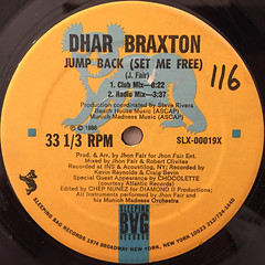 DAHR BRAXTON:JUMP BACK(SET ME FREE)(LABEL SIDE-A)