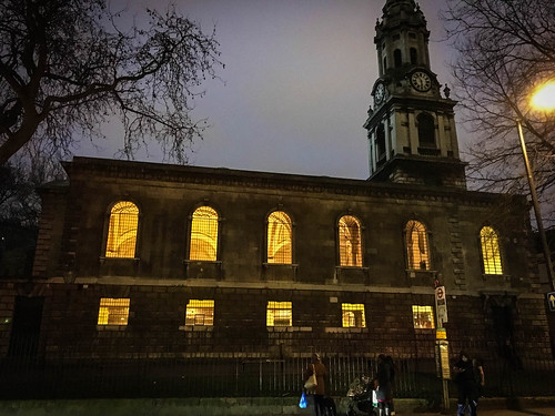 St. Giles Church at Night