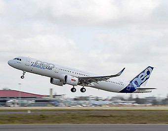 Airbus A321neo CFM take off (Airbus)