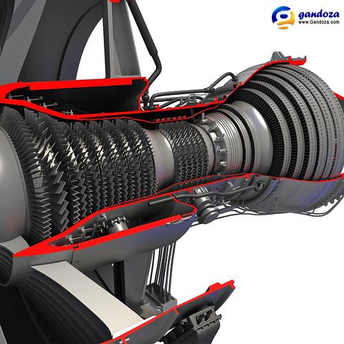 Rolls Royce 3d Model Free >> Rolls-Royce Trent 1000 Turbofan Engine Cutaway 3D Model   Flickr