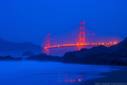 golden gate bridge blue - photo #27