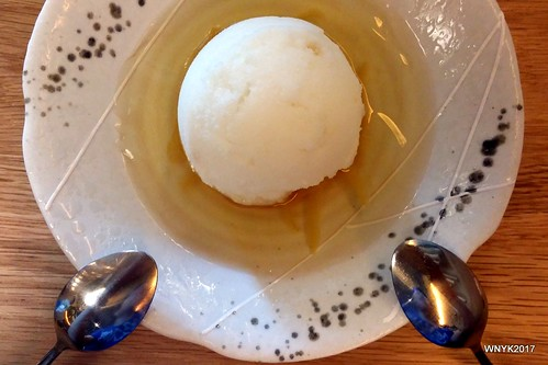 Yuzu Sorbet on Yuzu Jelly