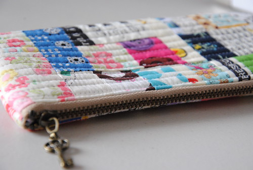 Patchwork Style zippered pouch | by quarter inch mark/ Chase