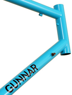Gunnar Sport in Turquoise with Black Bullseye Decals - Head Tube | by Gunnar Cycles