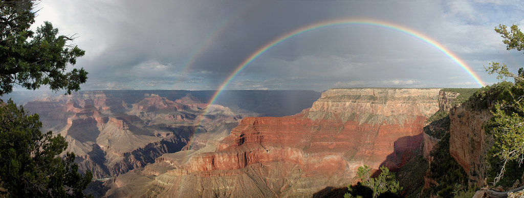 Grand Canyon National Park: Rainbow From Pima Point