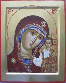 2013 Icône de la Mère de Dieu de Kazan\ The Mother of God of Kazan Icon - main \ hand of Julia Jabre | by Périchorèse-iconographie