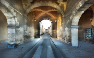 tunnel at place des vosges | by greg westfall.