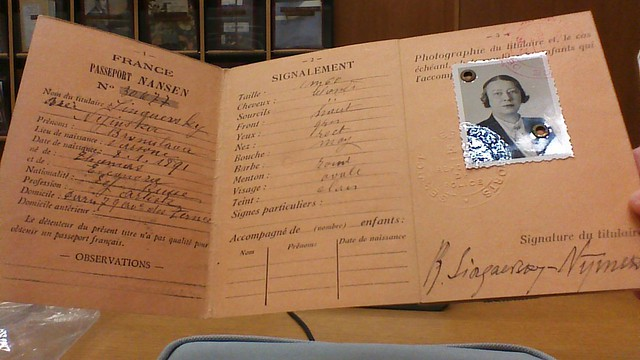 From the archives. Nansen passport. From The Chosen Maiden: Bronia Nijinska and Modern Dance