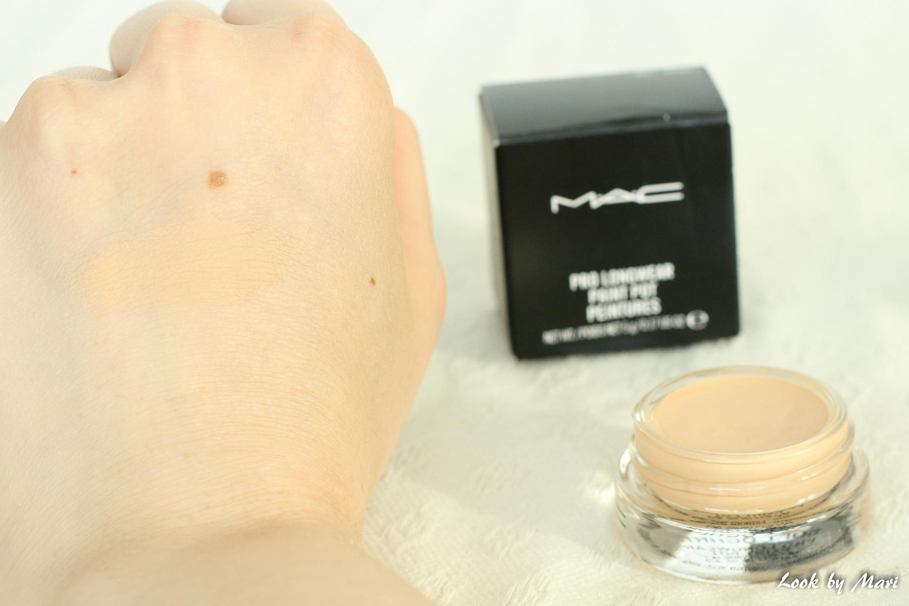 8 Mac pro long wear paint pot sävy soft ochre kokemuksia väri suomi kuinka käyttää pohjustus