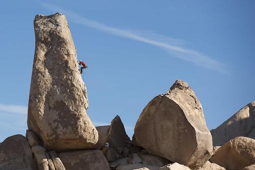 Climber at Headstone Rock
