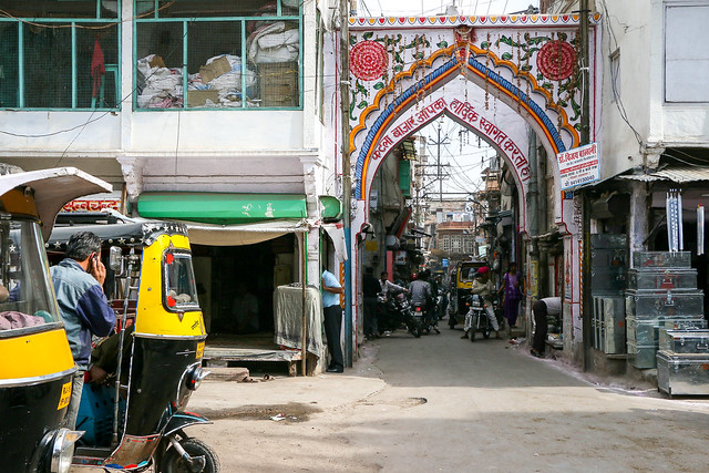 Street and alley in Jodhpur old city, India ジョードプル 旧市街のバザール道と路地
