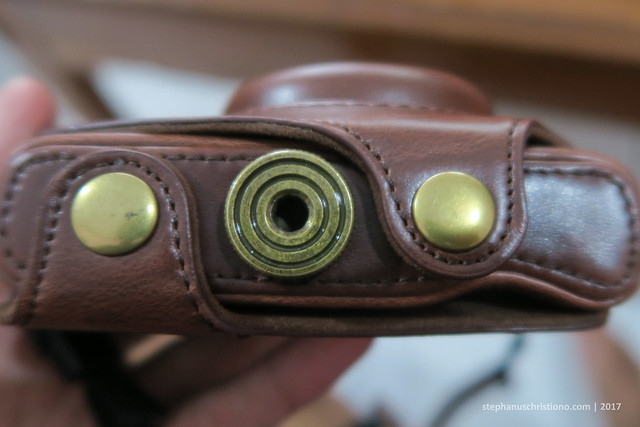 Leather Case Canon G7X - bottom
