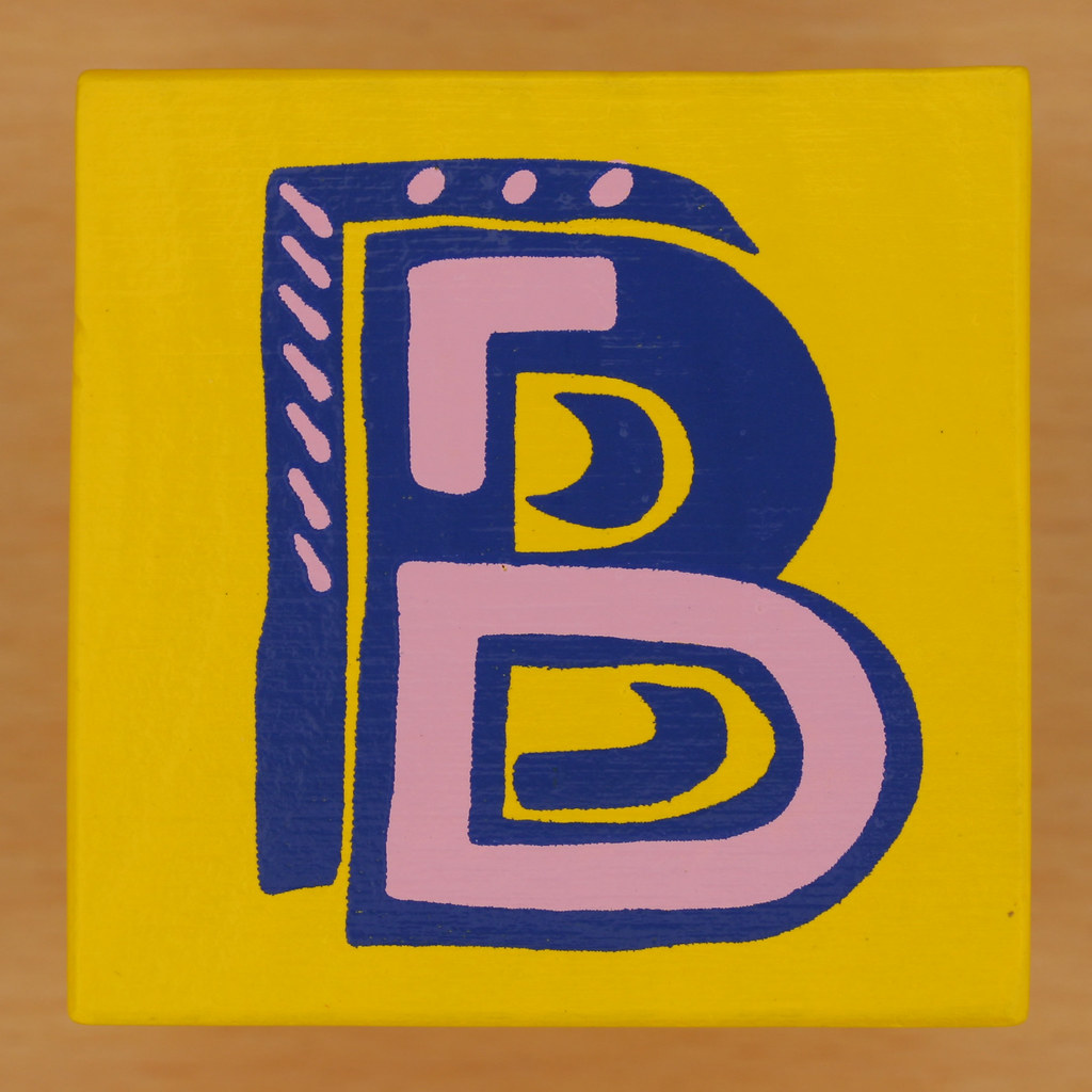 Bob and Roberta Smith Alphabet Block Letter B Leo Reynolds