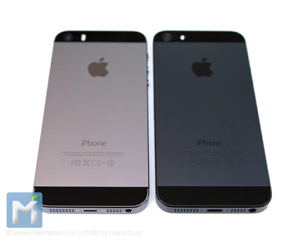 Vergleich IPhone 5 Black Slate Und 5S Space Gray
