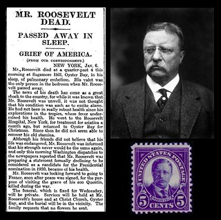 6th January 1919 - Death of Theodore Roosevelt | by Bradford Timeline