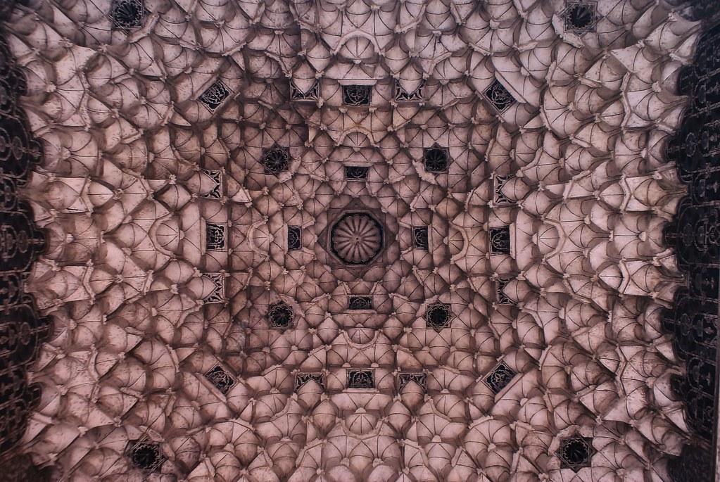 Photo d'un plafond caractéristique de l'architecture saadienne.