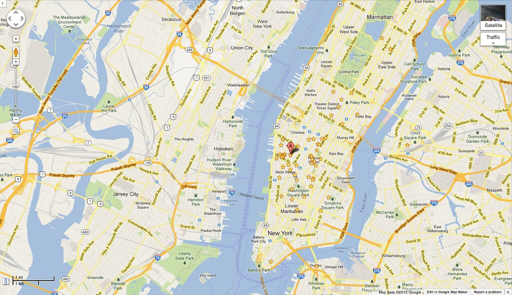 My pirate map of NYC on old Google Maps UI | Ade Oshineye | Flickr
