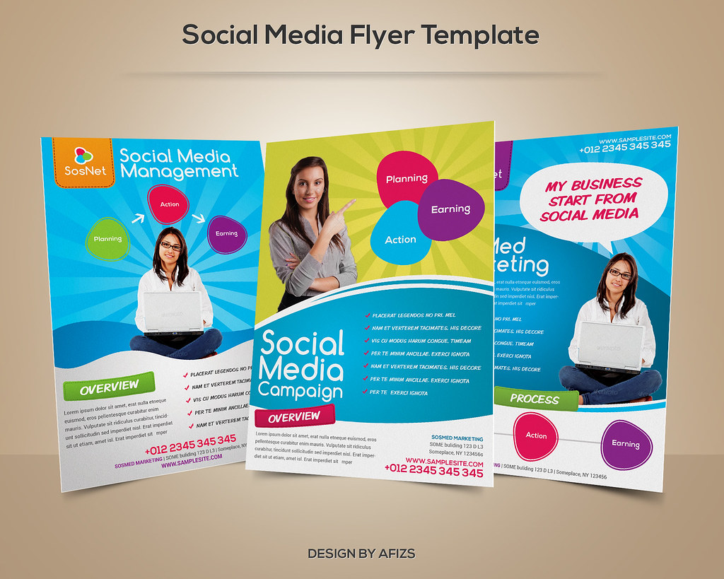 Social Media Flyer Template Download PSD File Here Graphi Flickr - Campaign brochure template