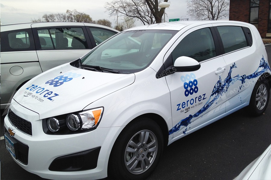 Vehicle wraps graphics vinyl fleet large car sedan