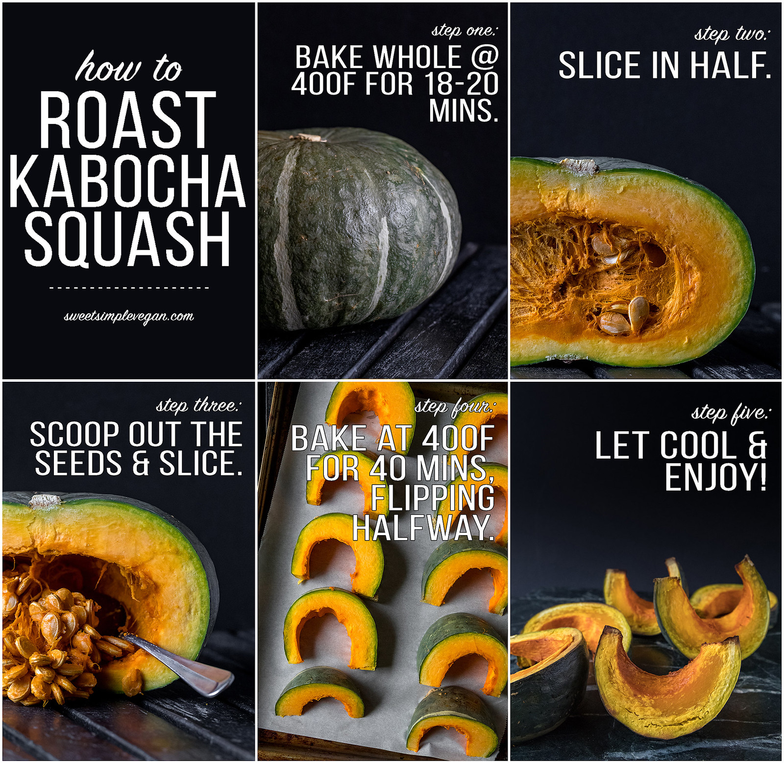 How To Roast Kabocha Squash sweetsimplevegan.com