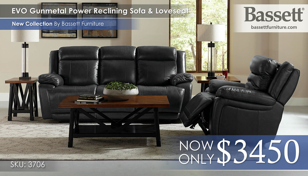 EVO Gunmetal Power Sofa & Loveseat 3706_EVO_SECT_RS_B