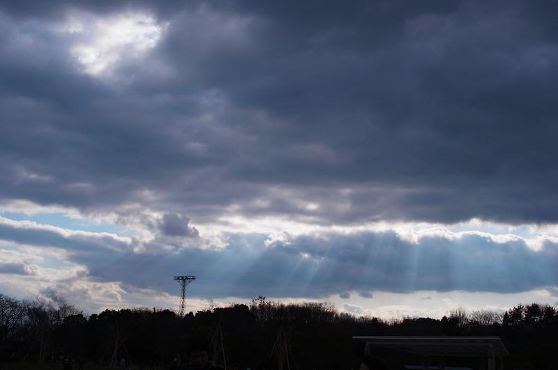 雲が切れる