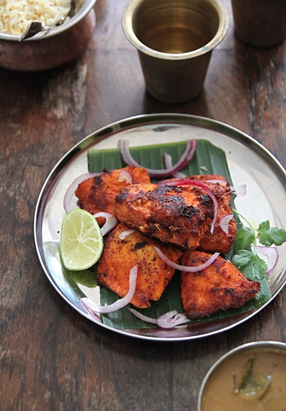 My kitchen antics kerala fish fry for Side dishes for fried fish