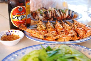 beer and seafood, Phnom Penh | by stickychopsticks