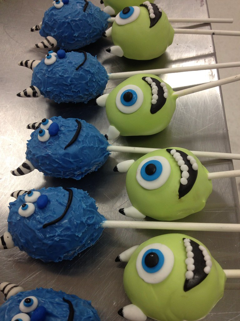 Monsters Inc Cake Pops Exclusive Cake Shop Flickr