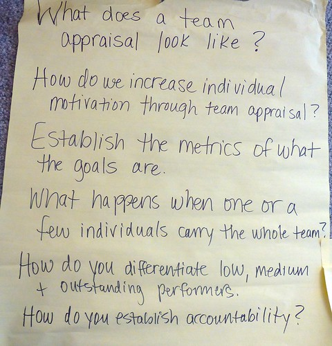 What does team appraisal look like description this for What does an appraiser look for