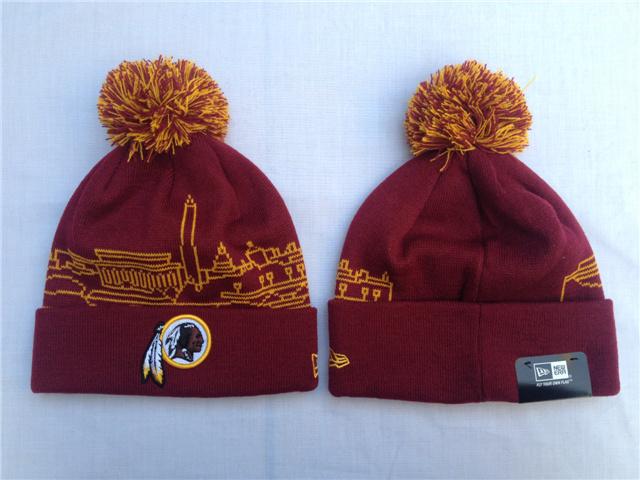 7db3bcb0189 ... atlantafalconssnapbackhats Washington Redskins Pom Poms NFL Sale Hats  Beanie New Era Knit Caps