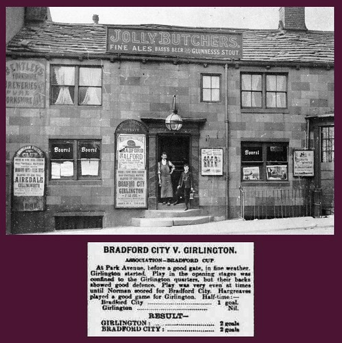 22nd March 1902 - Bradford City v Girlington : Jolly Butchers Pub | by Bradford Timeline
